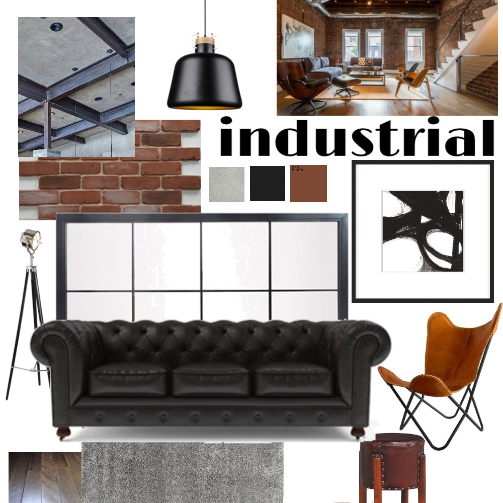 Industrial Interior Design Mood Board by Ash on Style Sourcebook