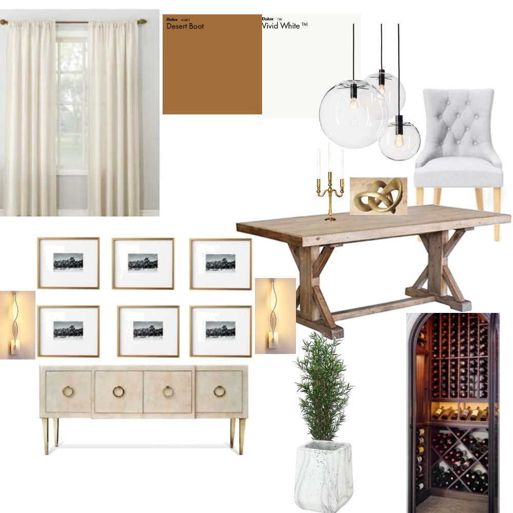 Karabo Dining Area Interior Design Mood Board by Alinane1 on Style Sourcebook
