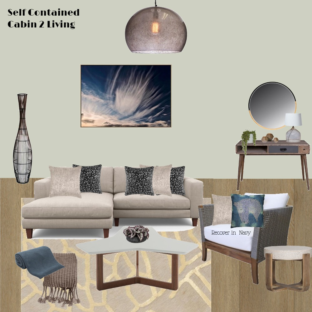 Self Contained Cabin 2 Living Interior Design Mood Board by Jo Laidlow on Style Sourcebook