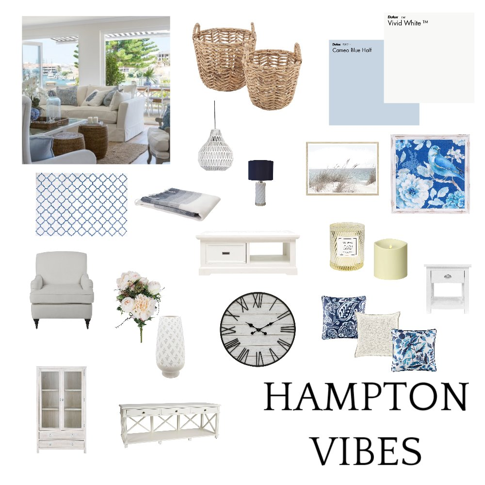 Hamptons Interior Design Mood Board by Lane on Style Sourcebook