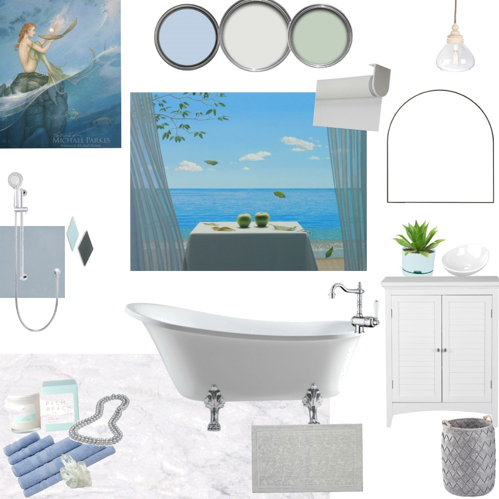 Coastal Bathroom Interior Design Mood Board by Roshini on Style Sourcebook