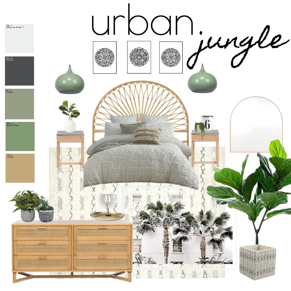 Urban Jungle Interior Design Mood Board by styledbykarli on Style Sourcebook