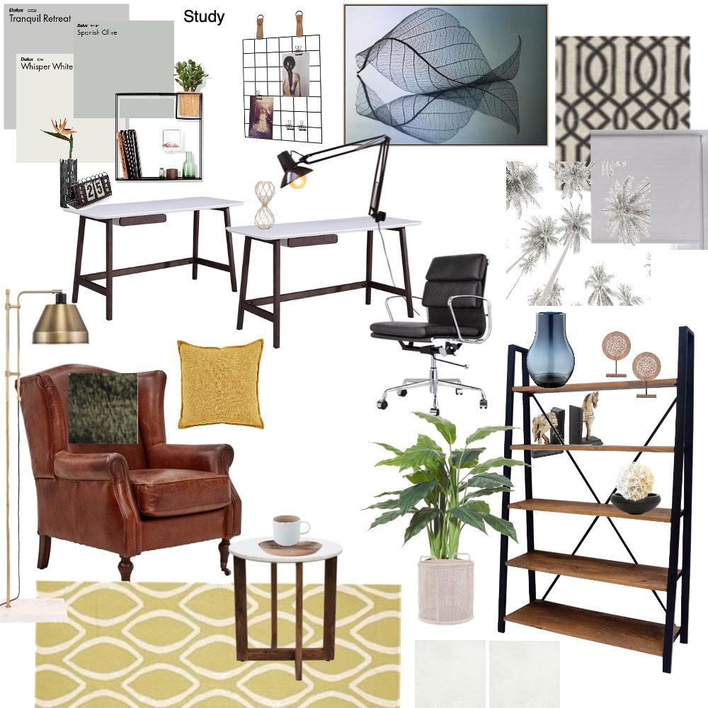 Study Interior Design Mood Board by Daleen on Style Sourcebook