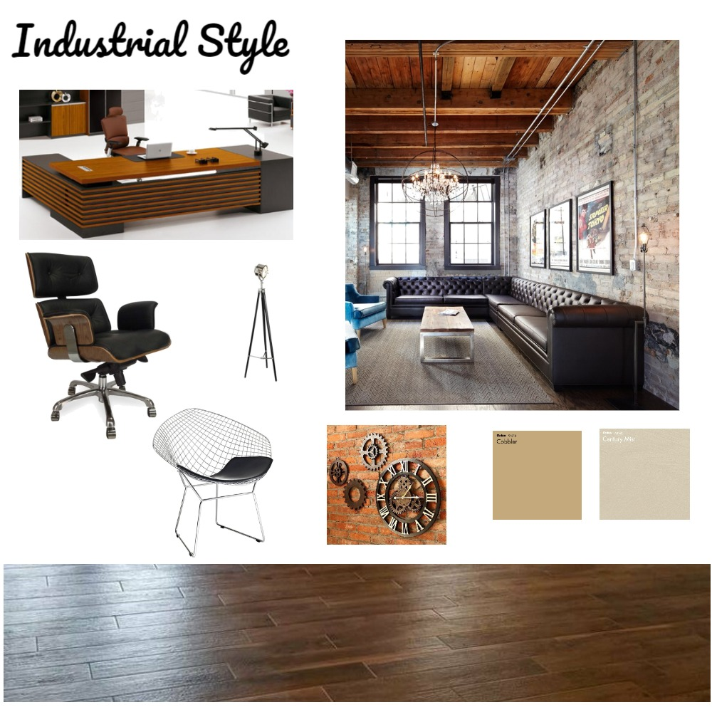 Industrial Style Office - 2 Interior Design Mood Board by a.jabri on Style Sourcebook