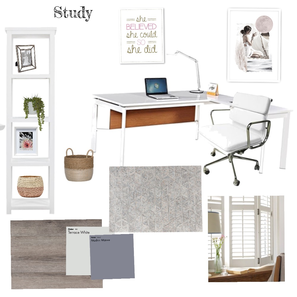 Study Interior Design Mood Board by Jan on Style Sourcebook