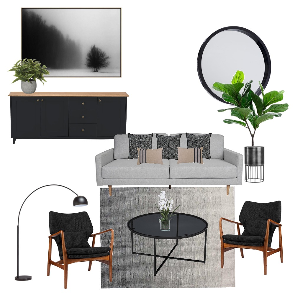 Moody modern contemporary Interior Design Mood Board by Simplestyling on Style Sourcebook