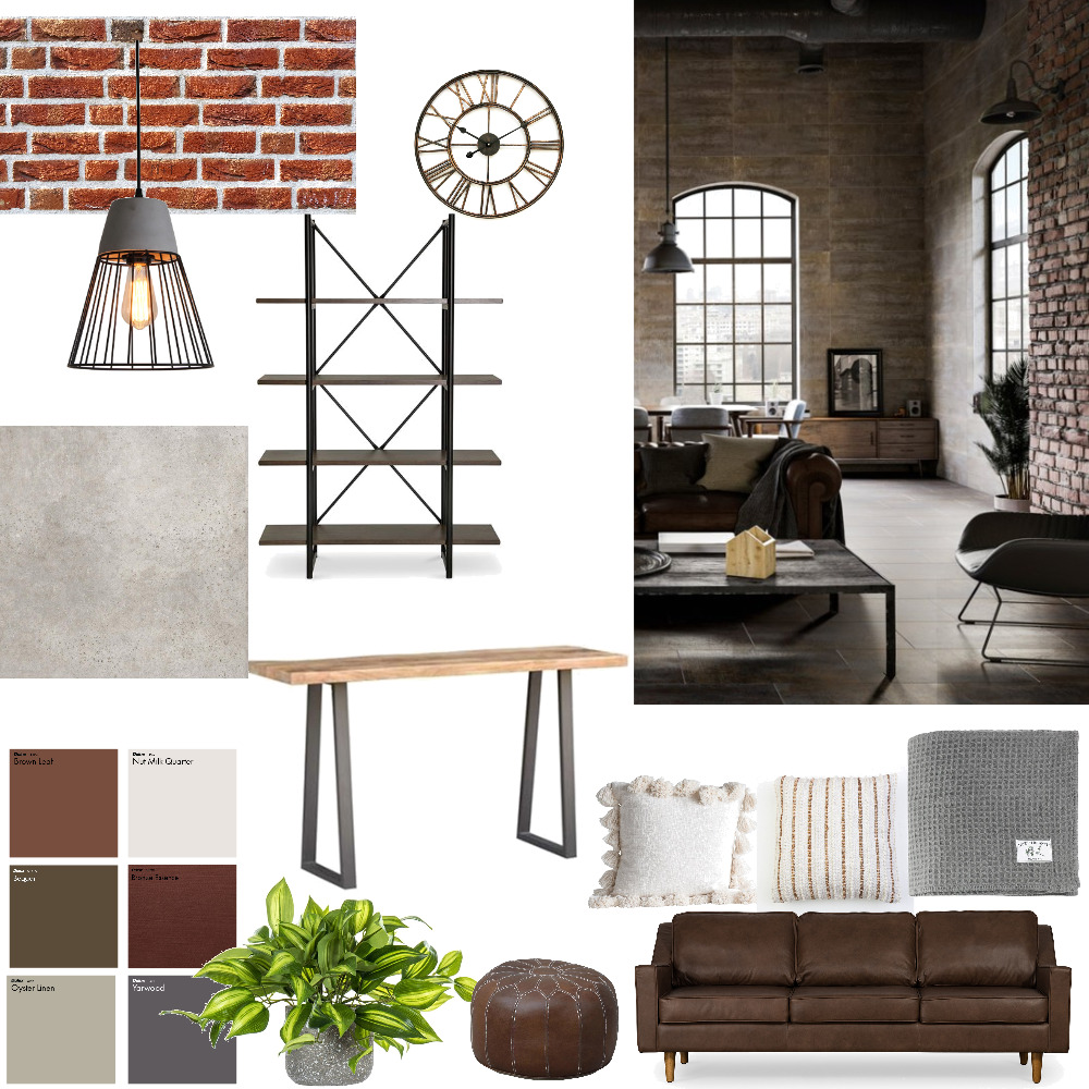 industrial Interior Design Mood Board by Fuiripo on Style Sourcebook