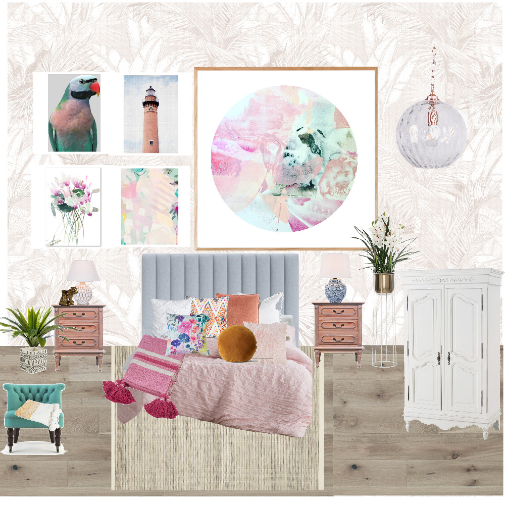 Module 3 - Eclectic Interior Design Mood Board by kate-gordon on Style Sourcebook