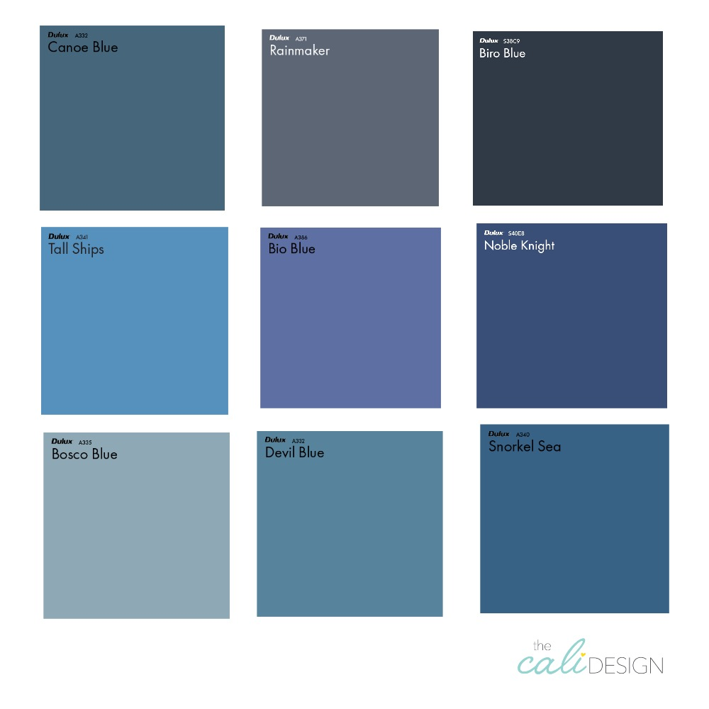 blue Interior Design Mood Board by The Cali Design  on Style Sourcebook