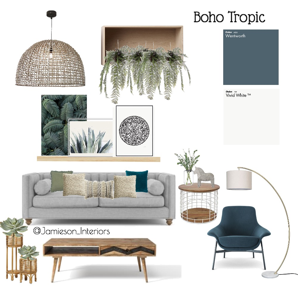 Tropic Interior Design Mood Board by Jamieson Interiors on Style Sourcebook