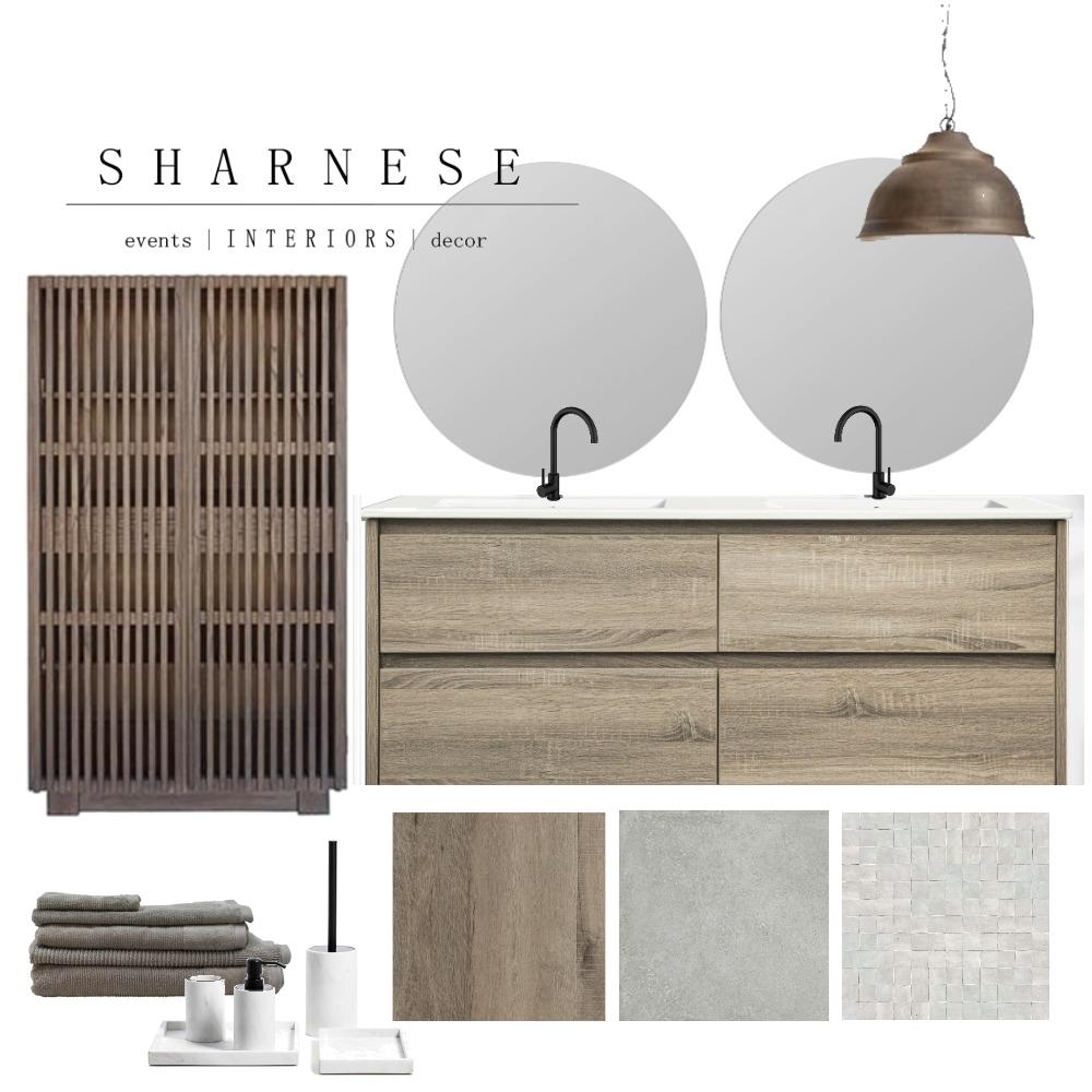 Earthy Bathroom Interior Design Mood Board by Sharnese Interiors on Style Sourcebook