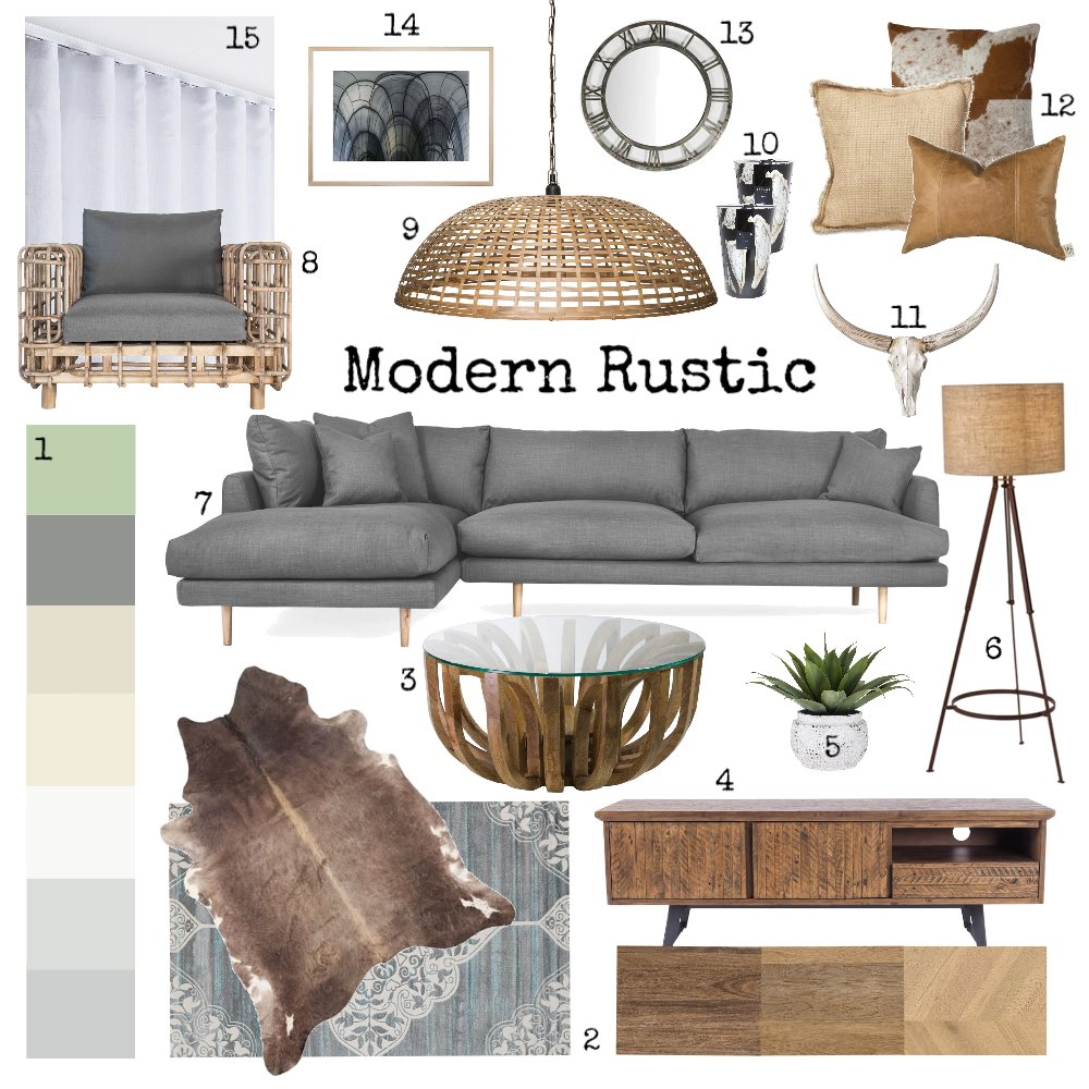 Modern Rustic Interior Design Mood Board by Amelia Strachan Interiors on Style Sourcebook