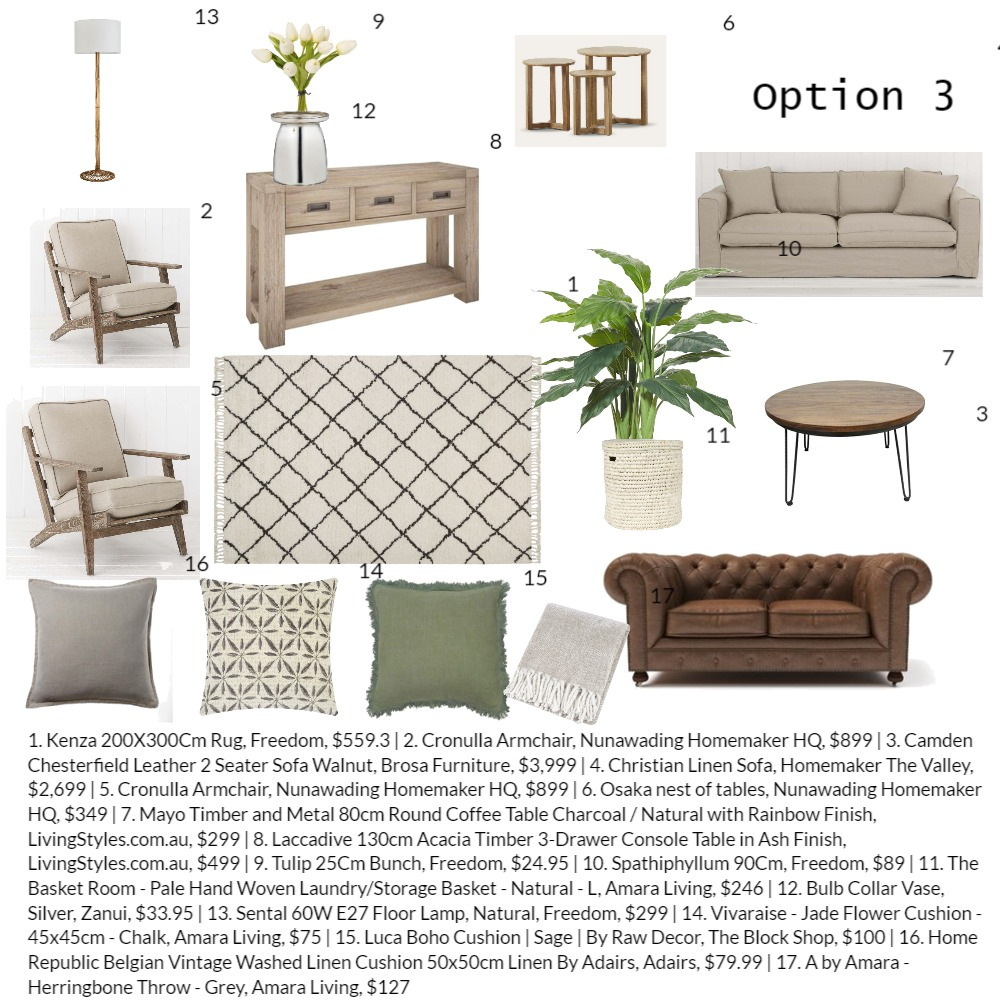Carol option 3 Interior Design Mood Board by Perla Interiors on Style Sourcebook