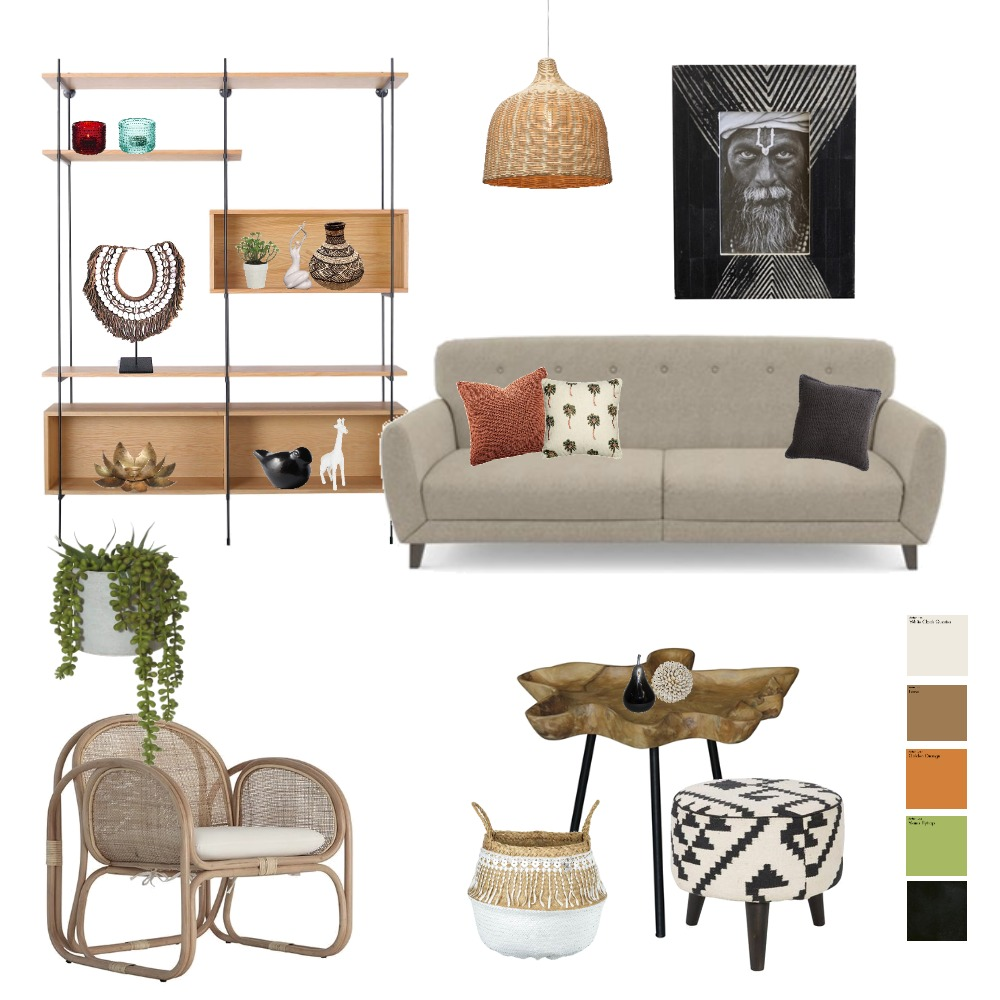 African Living room Interior Design Mood Board by micaherbon on Style Sourcebook