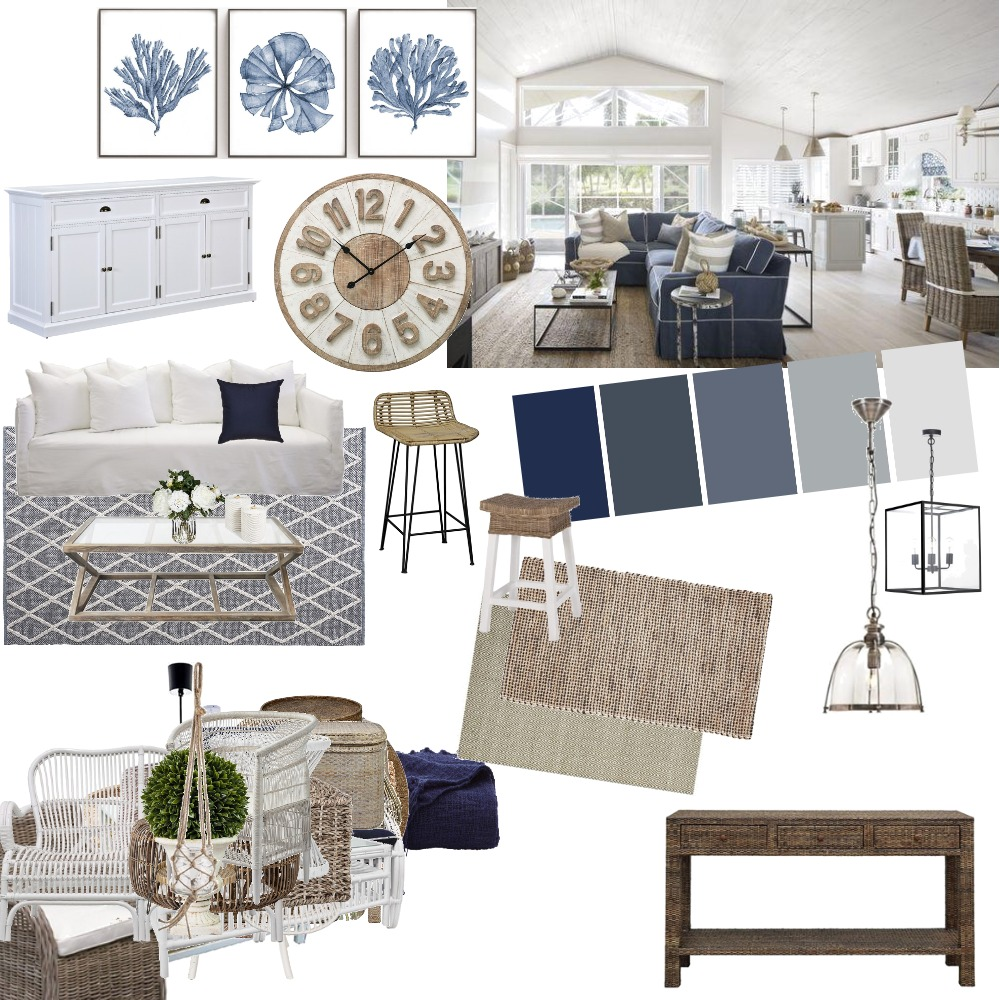Hamptons Interior Design Mood Board by georgiacampbell on Style Sourcebook