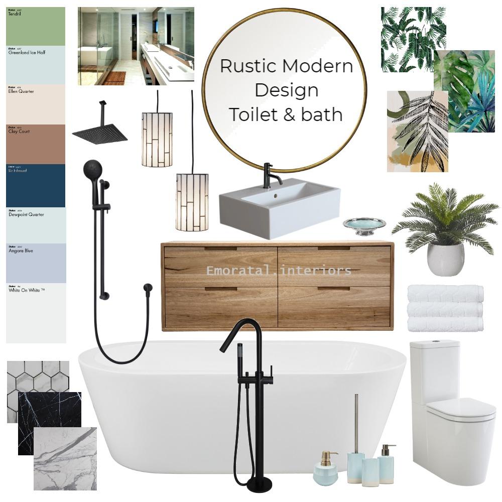 Rustic Design Toilet & bath Interior Design Mood Board by Emoratalinteriors on Style Sourcebook