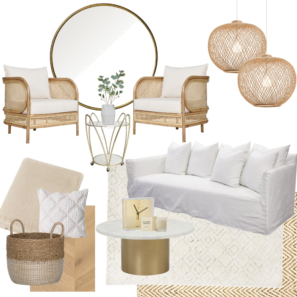 Classy Rattan Mood Board by Vienna Rose Styling on Style Sourcebook