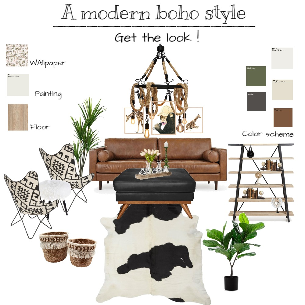 boho style Interior Design Mood Board by Rasha94 on Style Sourcebook