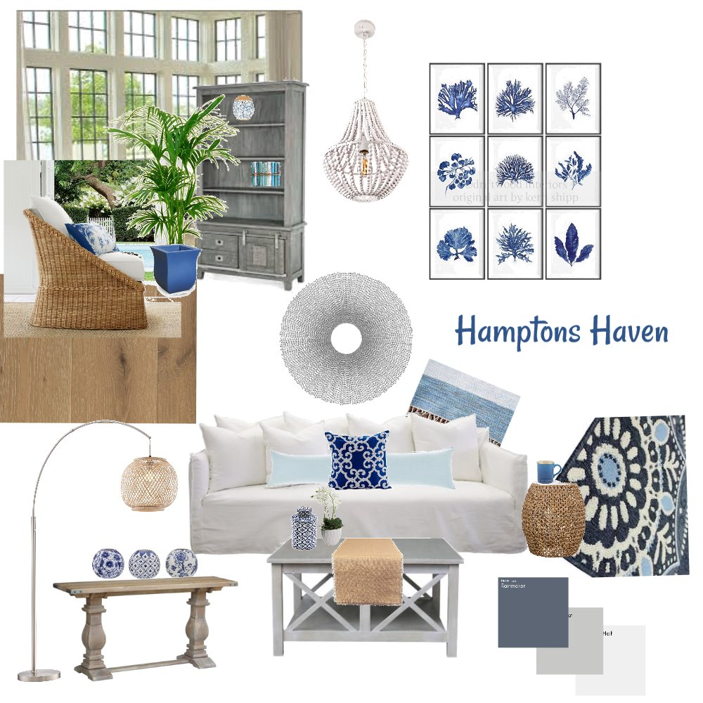 Hamptons Haven Interior Design Mood Board by jyoung on Style Sourcebook
