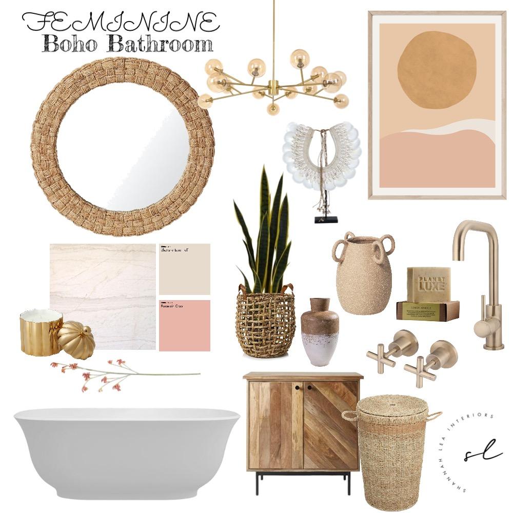Boho bathroom - feminine Interior Design Mood Board by Shannah Lea Interiors on Style Sourcebook