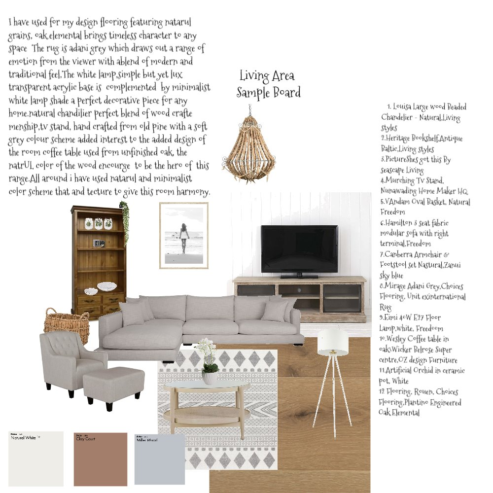 Living Area Interior Design Mood Board by Baylisse on Style Sourcebook