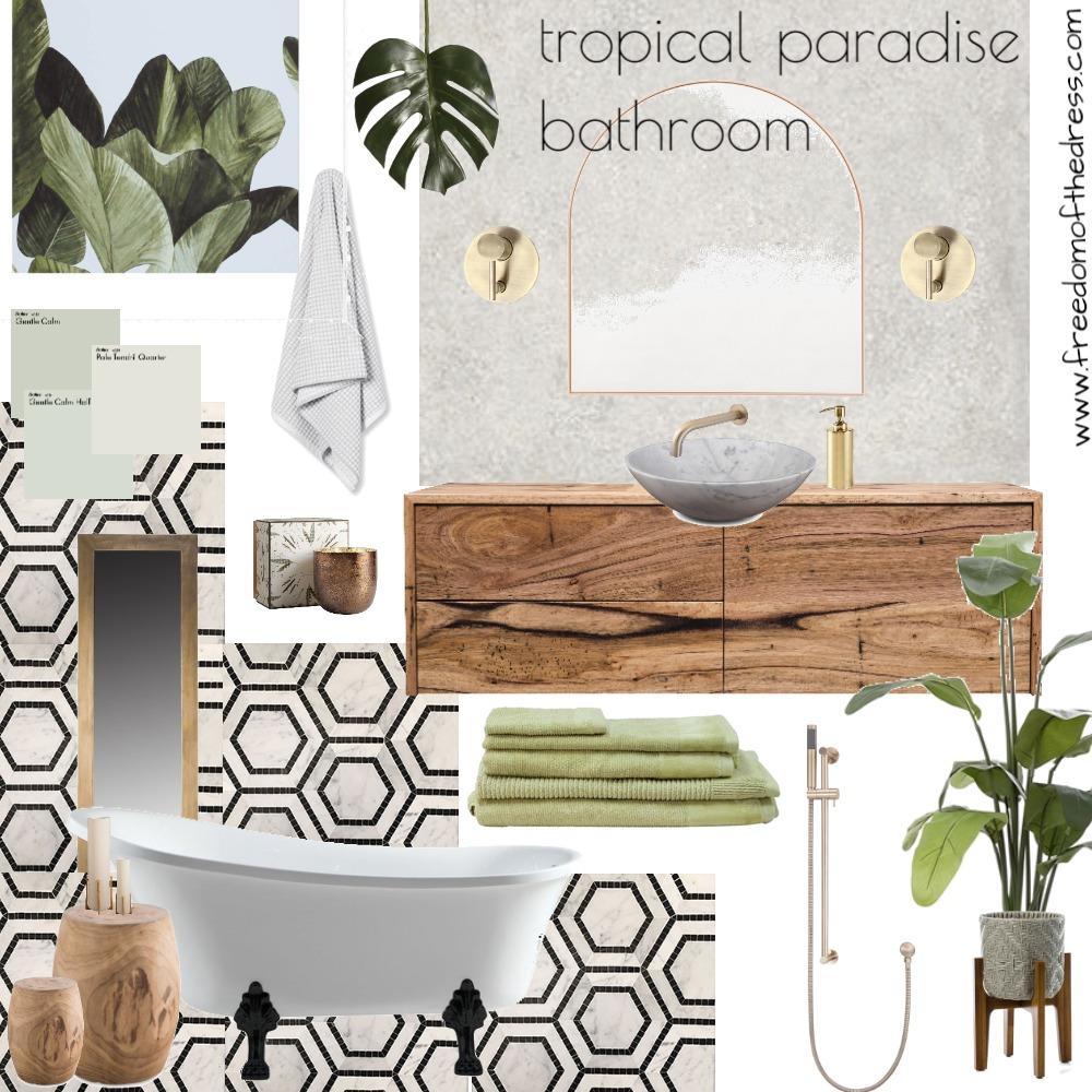 Tropical Paradise Bathroom Interior Design Mood Board by amandajdeflavio on Style Sourcebook