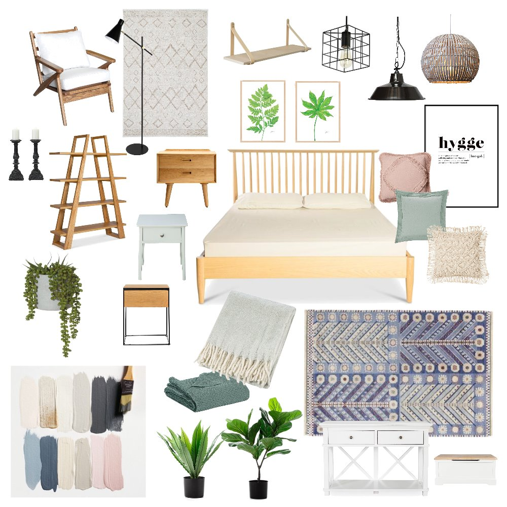scandinavian bedroom Interior Design Mood Board by PatrycjaChodacka on Style Sourcebook