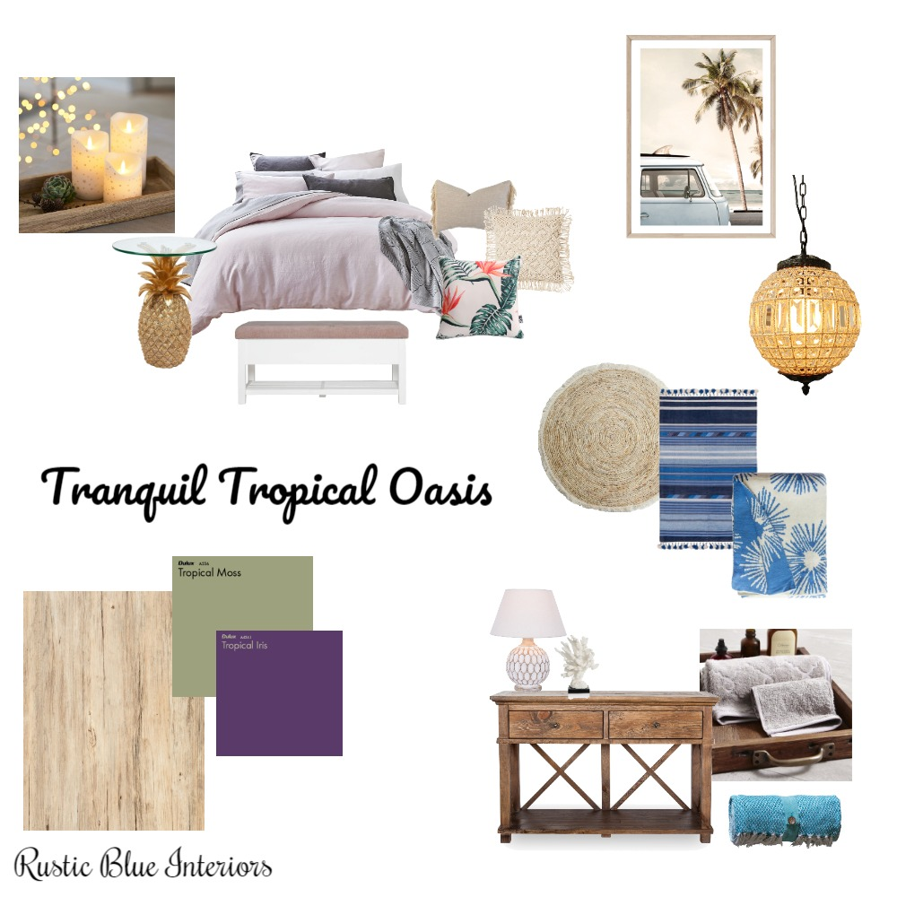 Tranquil Tropical Oasis Interior Design Mood Board by RusticBlueInteriors on Style Sourcebook
