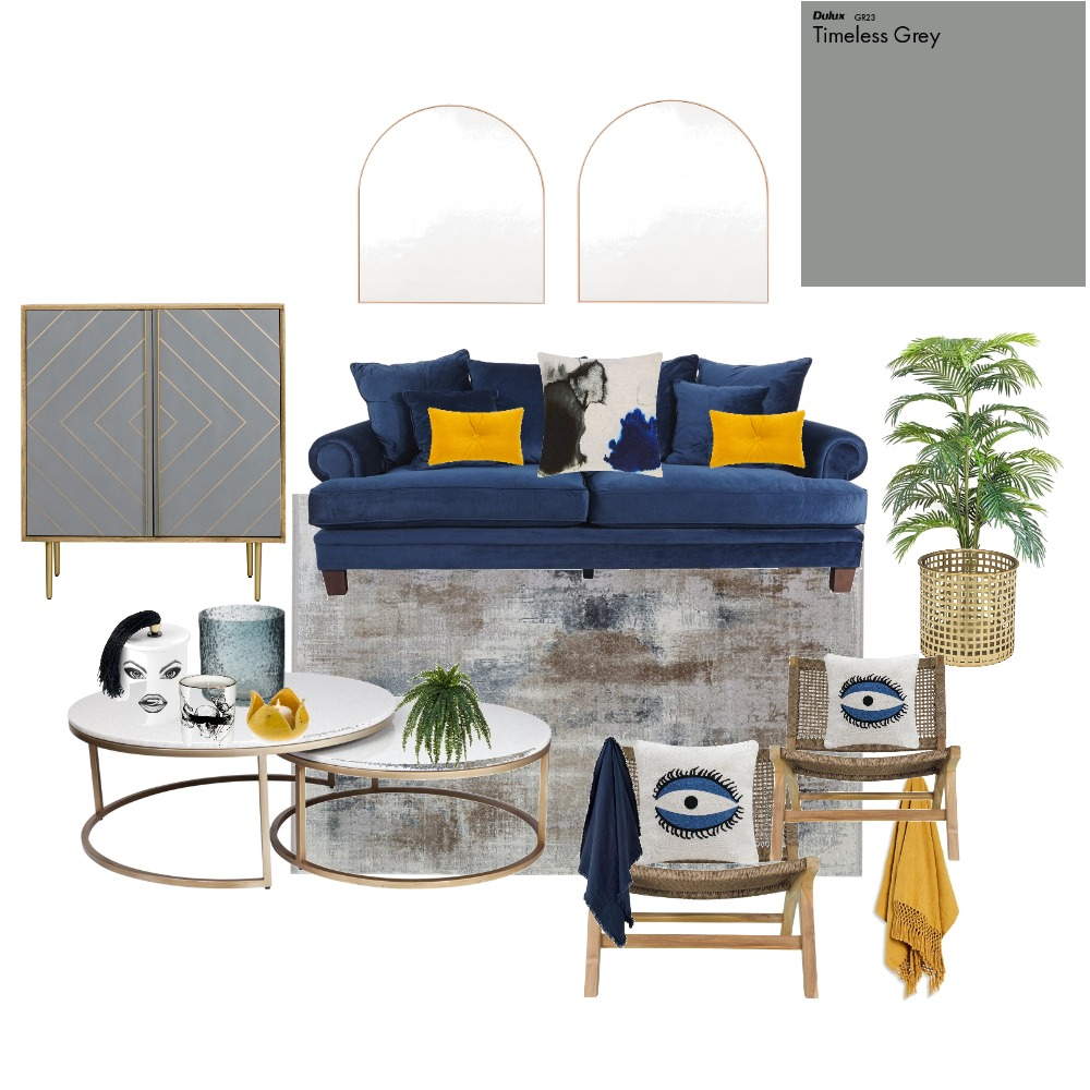Blue Mood Interior Design Mood Board by tkouks on Style Sourcebook