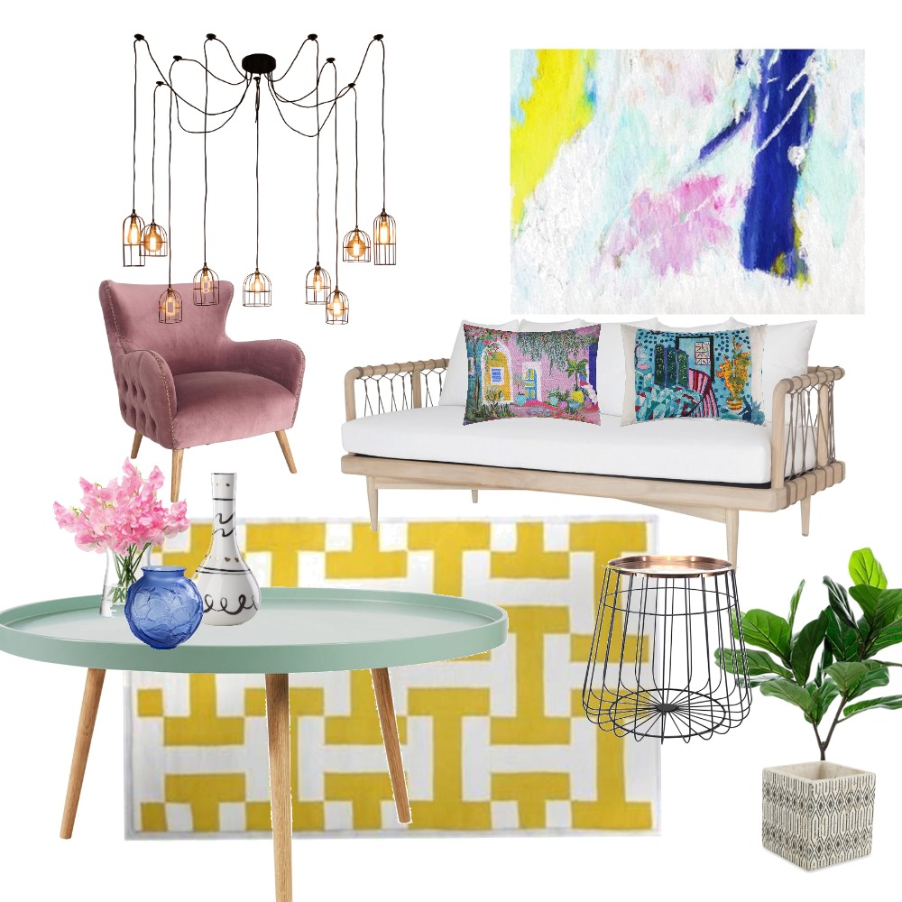 Yellow Living Interior Design Mood Board by tkouks on Style Sourcebook