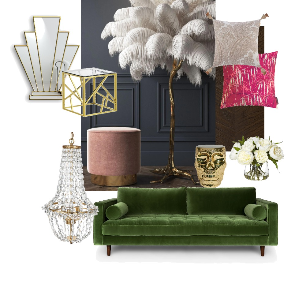 Hollywood Glam Interior Design Mood Board by Nicolecalvertdesigns on Style Sourcebook
