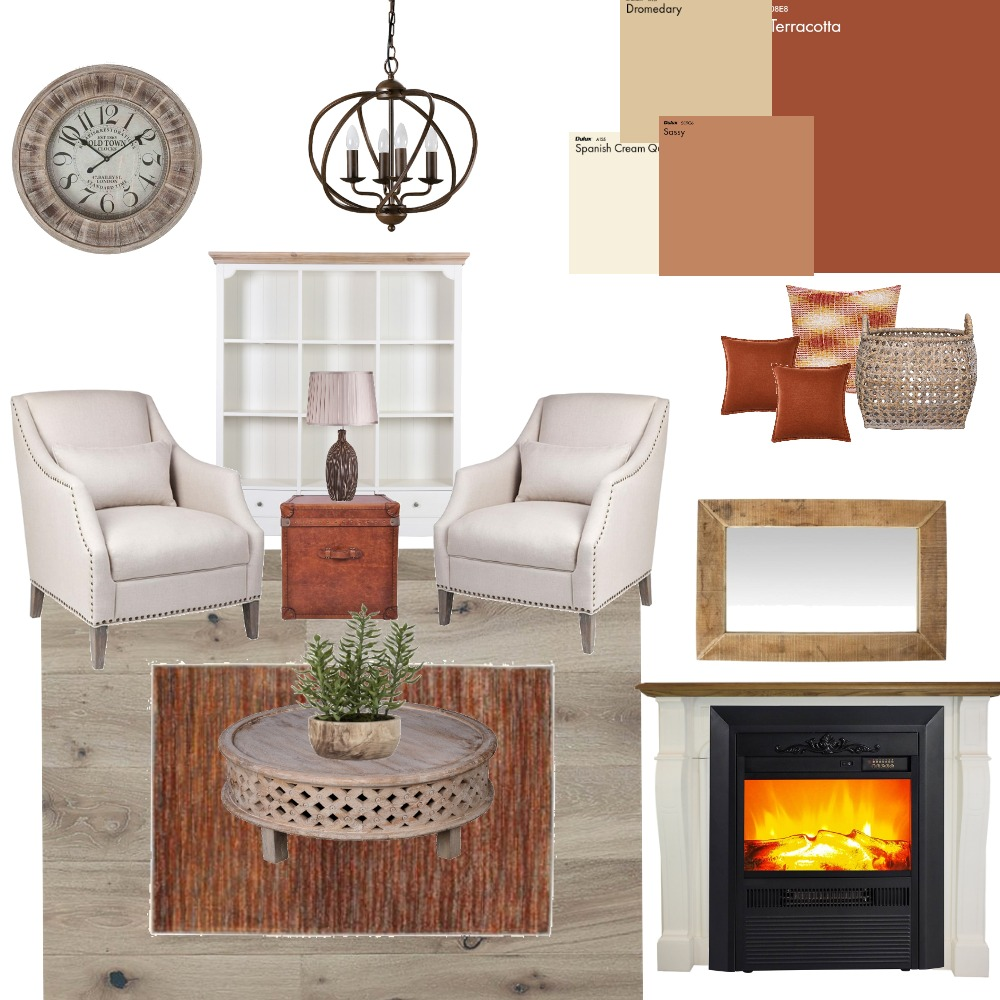 Study - Modern Farmhouse Interior Design Mood Board by Melinda715 on Style Sourcebook