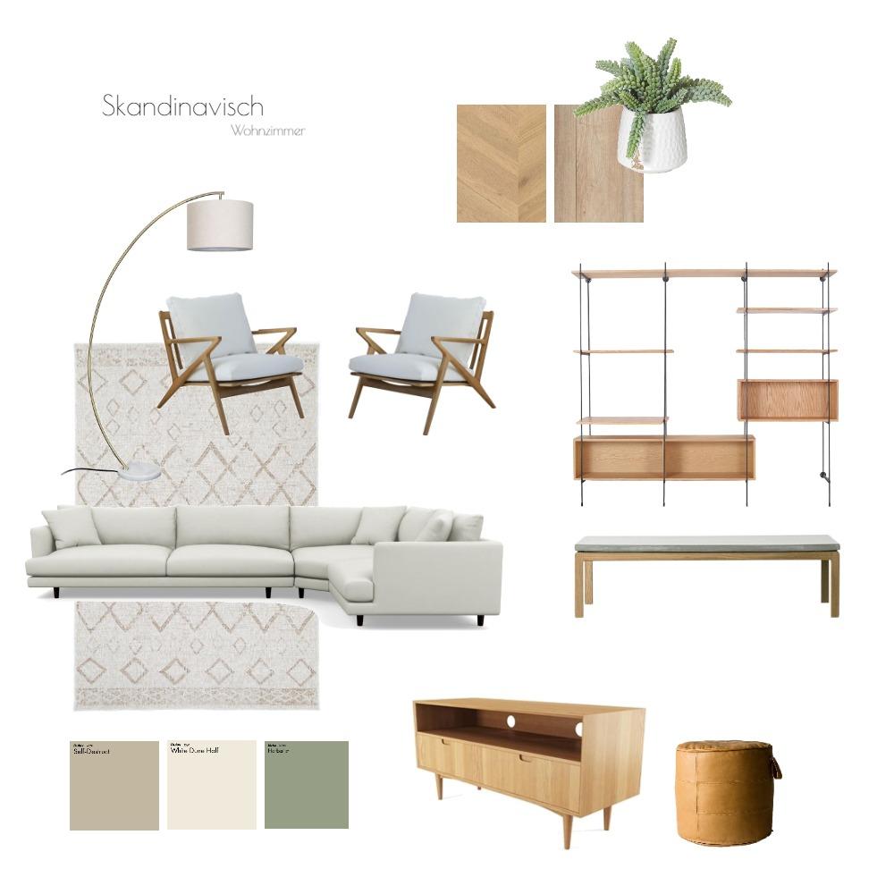 Skandinavisch_Wohnzimmer 1 Interior Design Mood Board by peerbausch on Style Sourcebook