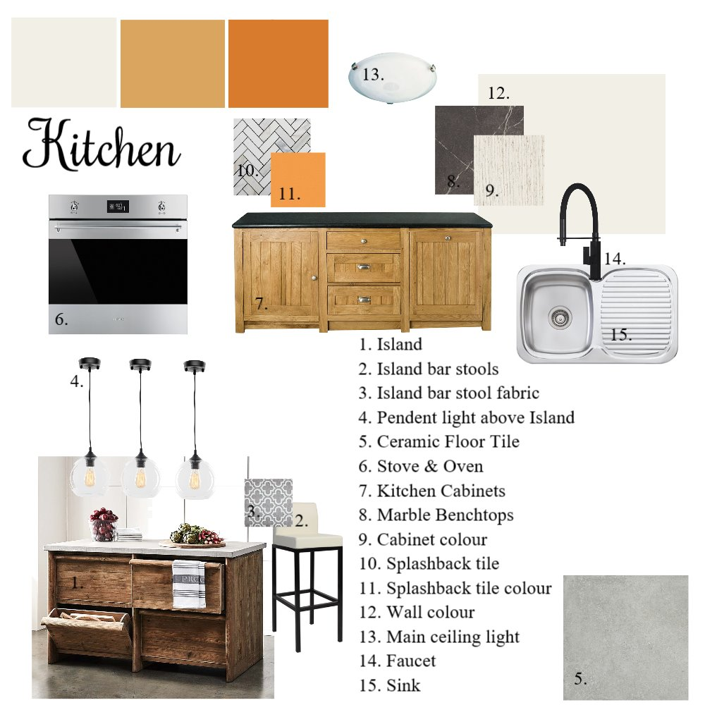 Assignment 9 Kitchen Interior Design Mood Board by Nicolemanley.x on Style Sourcebook