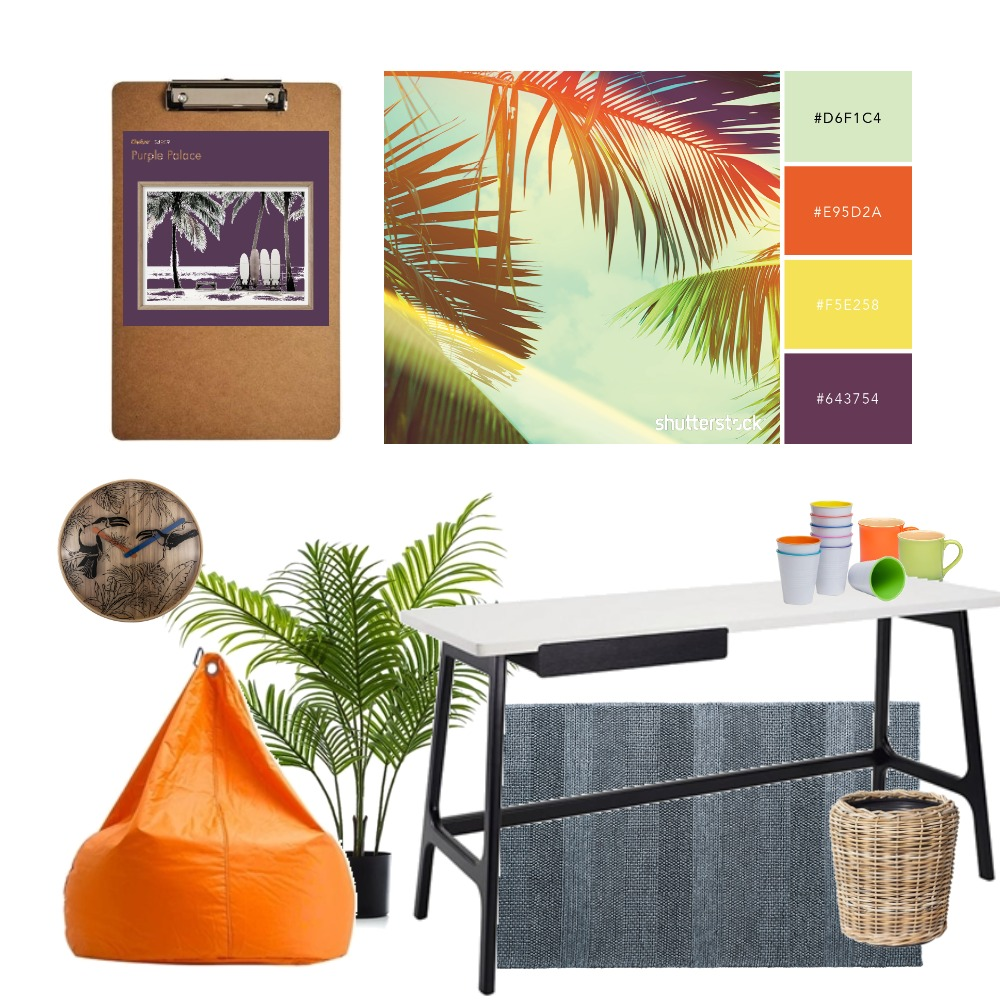 Tropical Retro Classroon Interior Design Mood Board by StyleCounsel on Style Sourcebook