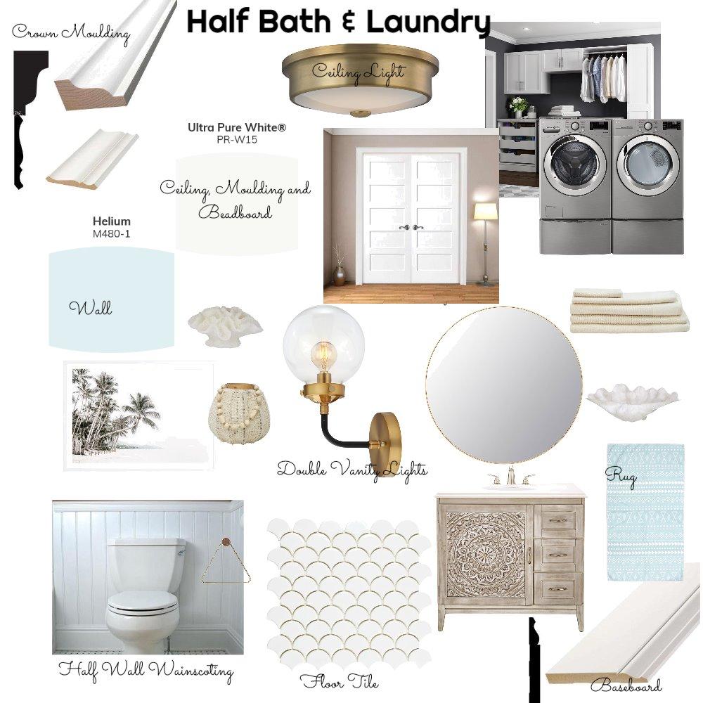 Half Bath/Laundry Interior Design Mood Board by LesliePelonero on Style Sourcebook