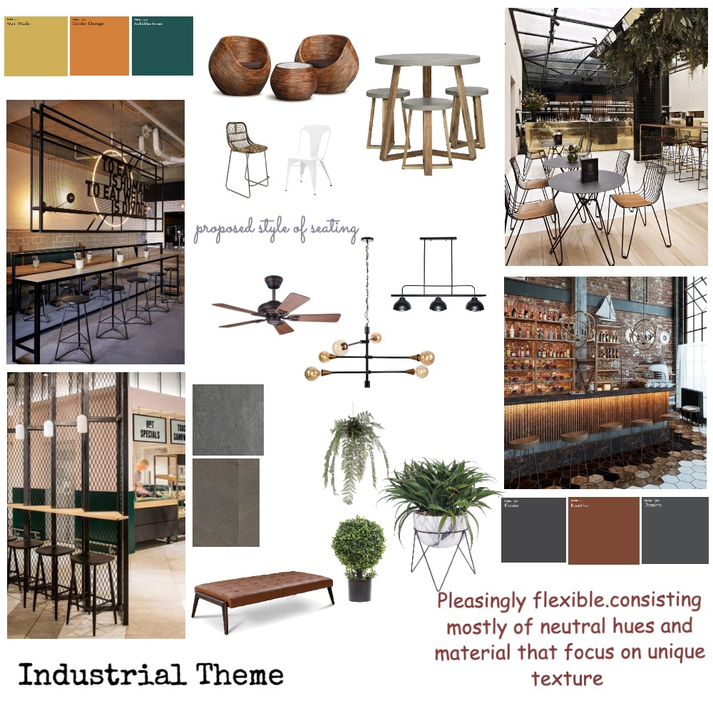 cafe 1 Interior Design Mood Board by koushika on Style Sourcebook