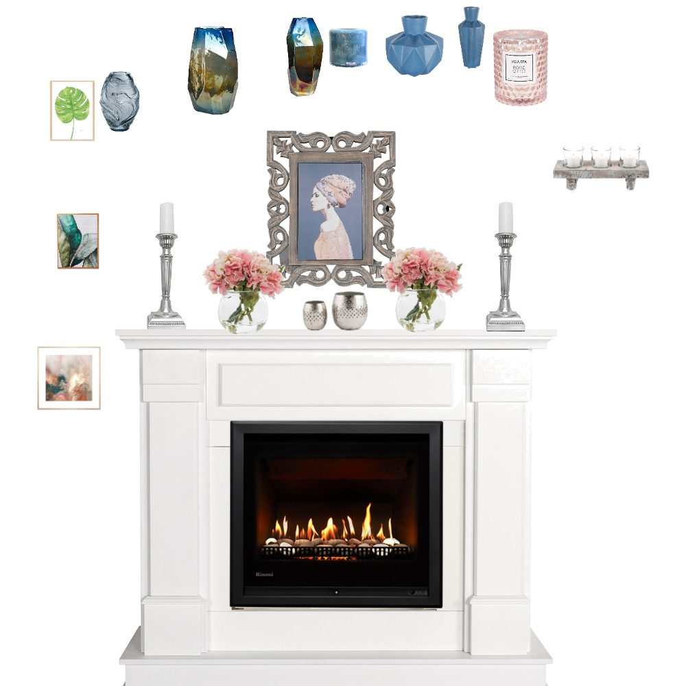 fireplace mantle Interior Design Mood Board by JenMayer on Style Sourcebook