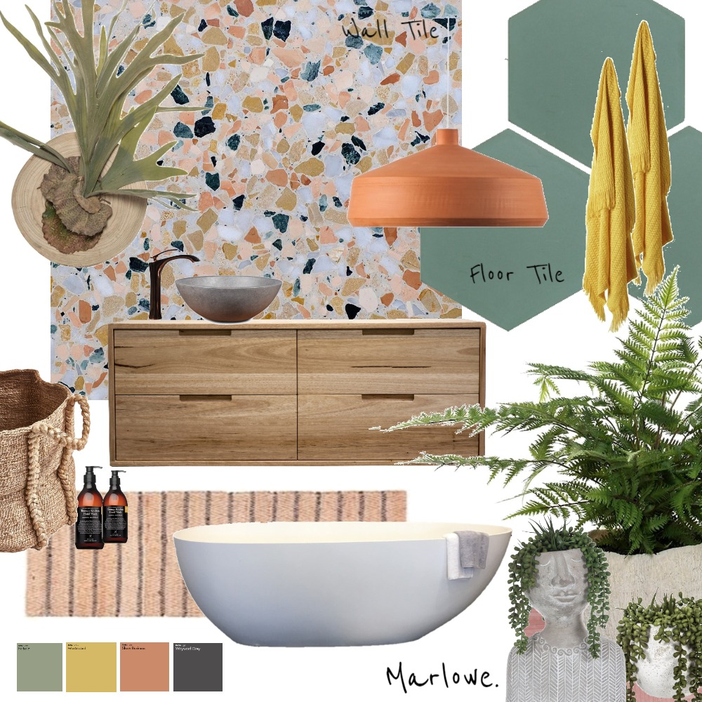 Bathroom 2020 Interior Design Mood Board by Marlowe Interiors on Style Sourcebook