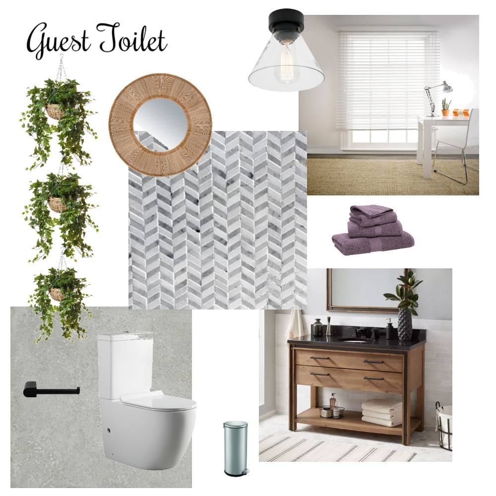 Guest Toilet Interior Design Mood Board by Lorraine on Style Sourcebook