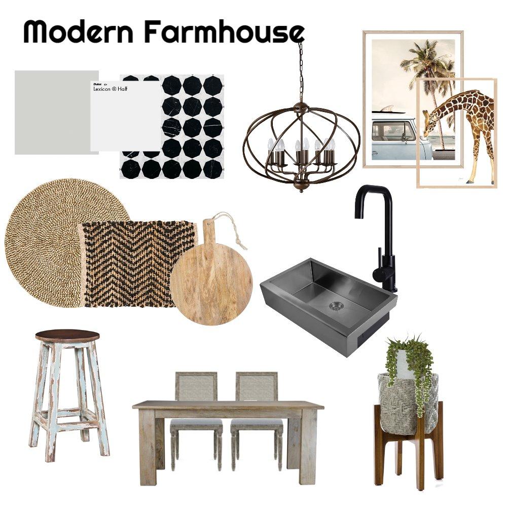 Modern Farmhouse Kitchen Interior Design Mood Board by jroque1234 on Style Sourcebook