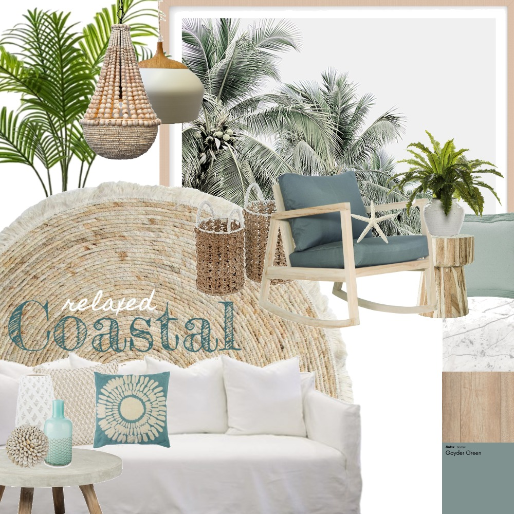 relaxed coastal Interior Design Mood Board by Sarahaseggie on Style Sourcebook