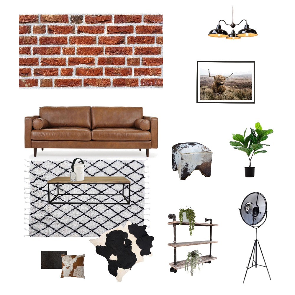 Industrial Interior Design Mood Board by Styledyourway on Style Sourcebook