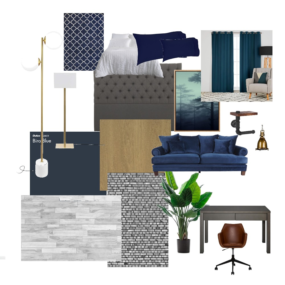 mounirs bedrroom Interior Design Mood Board by larasiblini on Style Sourcebook