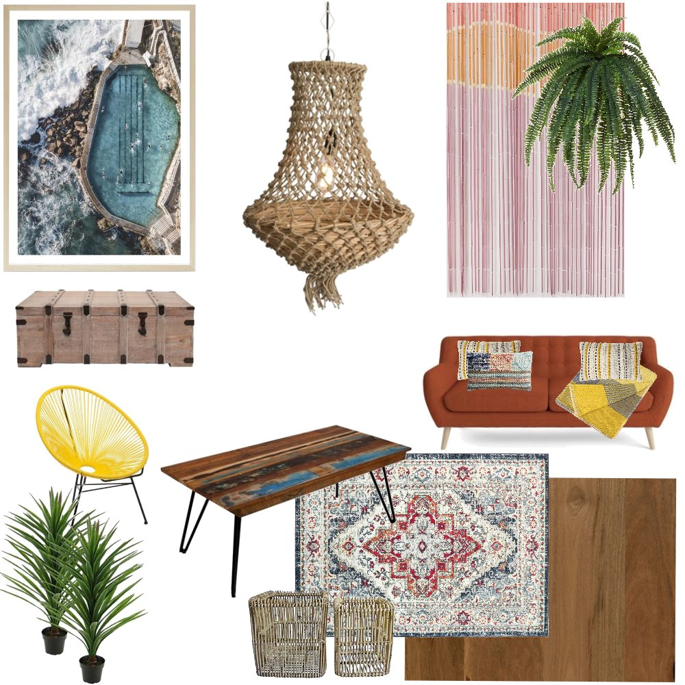 modern coastal bohemia Interior Design Mood Board by chiefbroseph on Style Sourcebook