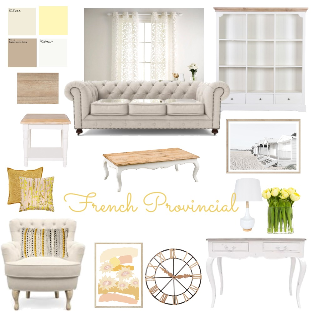 French Provincial Interior Design Mood Board by RegineEvans on Style Sourcebook