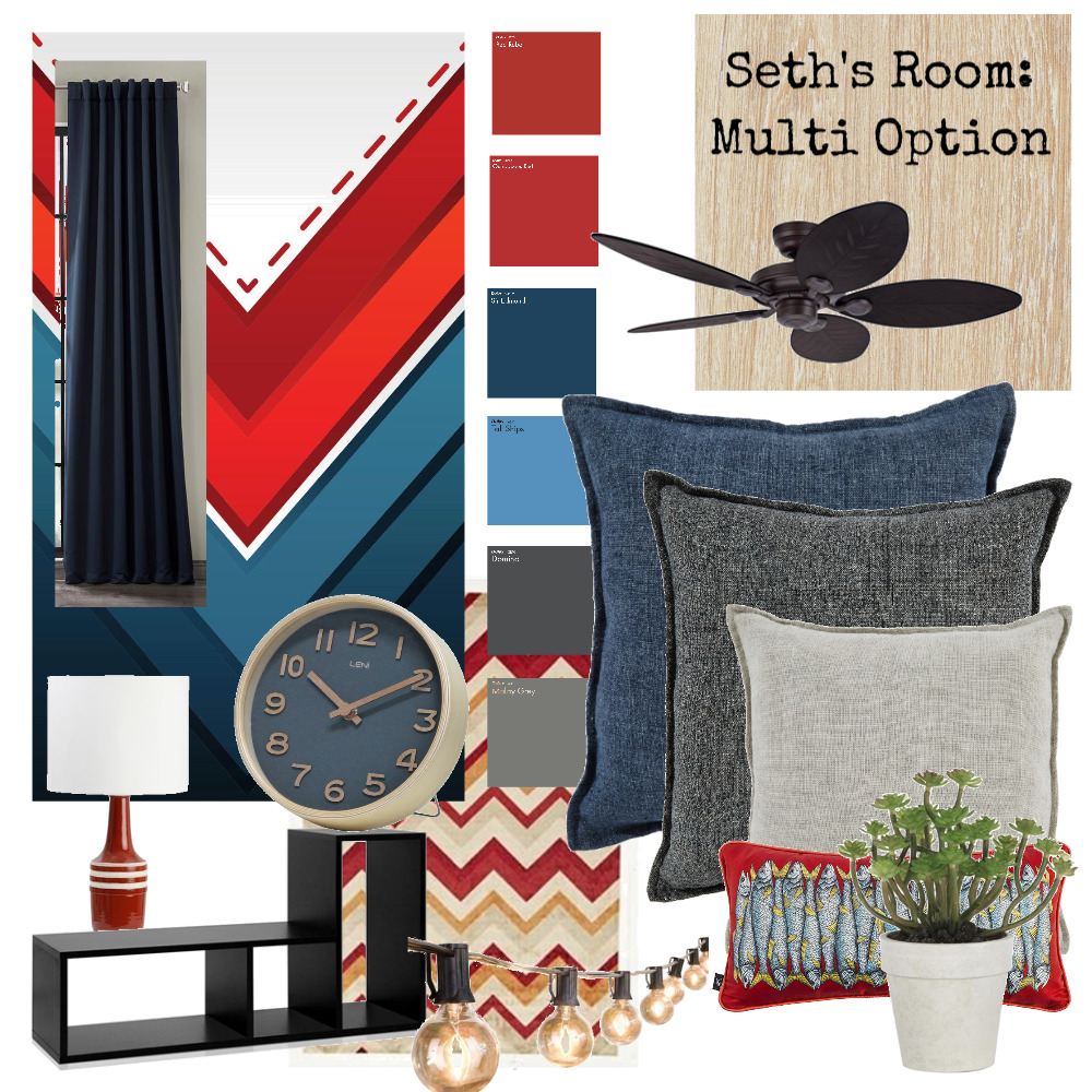 Seth's Room: Multi Option Interior Design Mood Board by Hbabe on Style Sourcebook