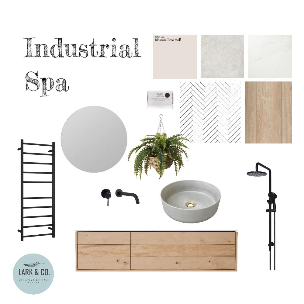 Industrial Spa Bathroom Interior Design Mood Board by Larkandco_uk on Style Sourcebook
