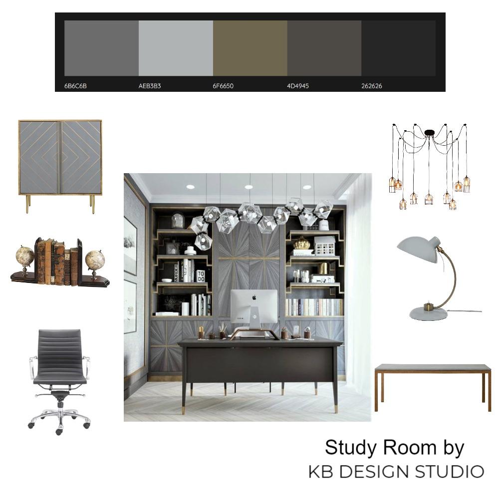 Study Room Interior Design Mood Board by KB Design Studio on Style Sourcebook