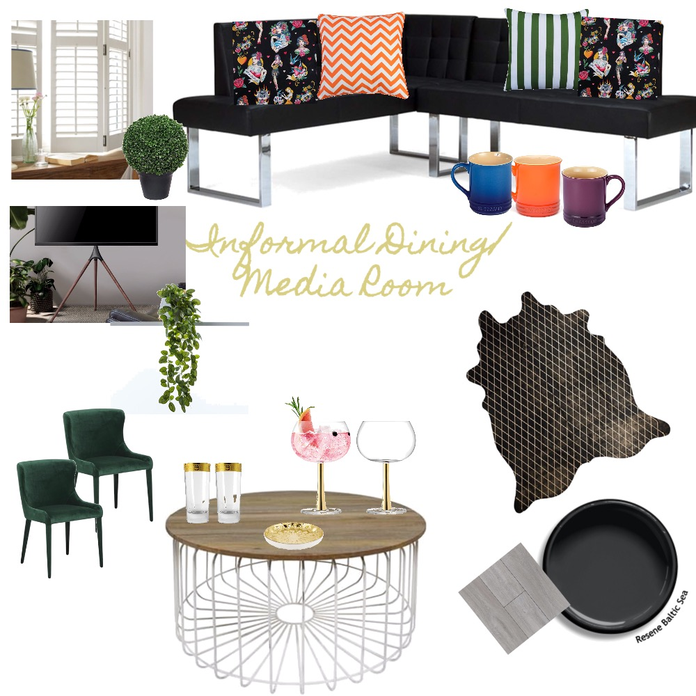Informal Media/Dining RoomIDIAss9 Interior Design Mood Board by aimeeomy on Style Sourcebook
